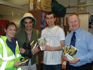 Library staff in Devon were among the first to unpack copies of the Lost World books.