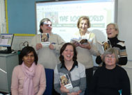 Readers from Poole taking part in the Six Book Challenge by reading The Lost World.
