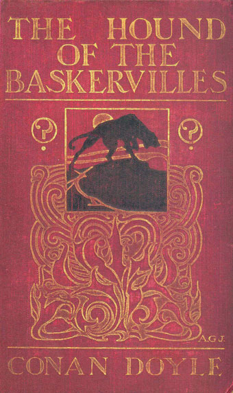 Cover of first edition of The Hound of the Baskervilles (City of Westminster Libraries).
