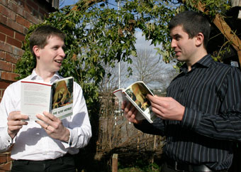 Staff from CREATE in Bristol discuss the book in the Ecohome garden.